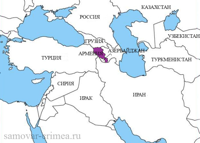 Где находиться на карте армения